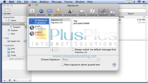 how to create signature in mac mail