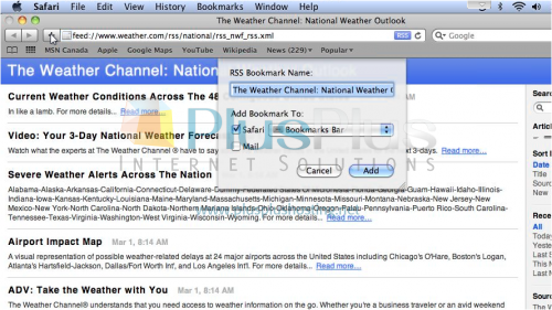 how to subscribe to rss feeds in mac mail