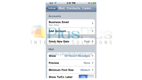 how to set gmail account on iphone