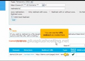 How to manage url redirects from cPanel with RVSkin