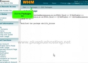 How to Edit or Delete packages in WHM
