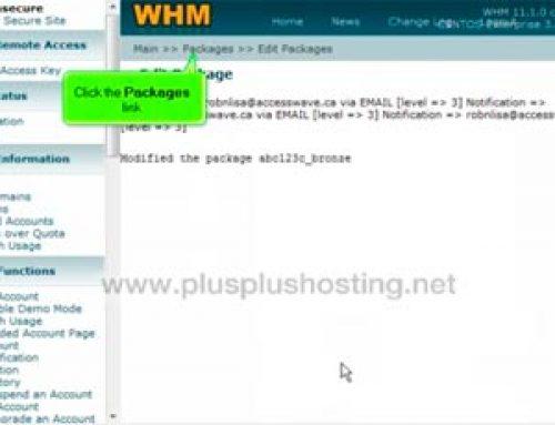 Cómo editar o eliminar paquetes de alojamiento web en WHM