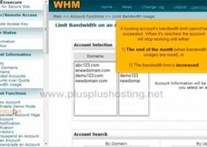 Cómo limitar el uso de ancho de banda en WHM