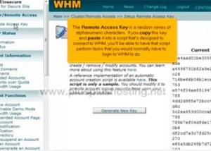 Cómo configurar su clave de acceso remoto en WHM