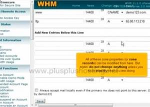 Cómo editar zonas DNS en WHM