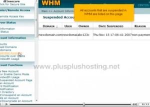 Cómo suspender o activar una cuenta en WHM