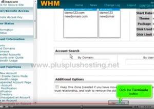 Cómo eliminar una cuenta en WHM