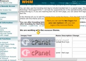 Using cPanel Branding in WHM