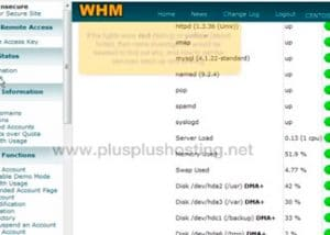Checking your server status and information in WHM